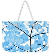 Blue Leaves Melody Weekender Tote Bag by Jennie Marie Schell