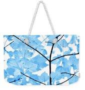 Blue Leaves Melody Weekender Tote Bag