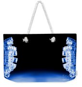 Blue Led Lights Both Sides Of The Image With Space For Text Weekender Tote Bag