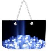 Blue Led Lights With Light Beam Weekender Tote Bag