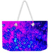 Blue Light Spheres Abstract Weekender Tote Bag