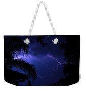 Blue Lightning Weekender Tote Bag