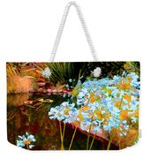 Blue Lily Water Garden Weekender Tote Bag