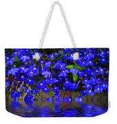 Blue Lobelia Weekender Tote Bag