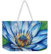 Blue Lotus Weekender Tote Bag