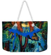 Blue Madonna In Tree Weekender Tote Bag