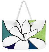 Blue Magnolia 1- Floral Art Weekender Tote Bag
