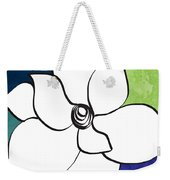 Blue Magnolia 2- Floral Art Weekender Tote Bag
