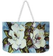 Blue Magnolia Weekender Tote Bag