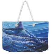 Blue Marlin Strike Off0053 Weekender Tote Bag by Carey Chen