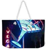 Blue Martini Glass Las Vegas Weekender Tote Bag