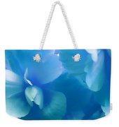 Blue Melody Begonia Floral Weekender Tote Bag