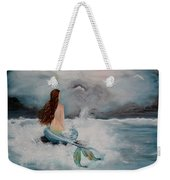 Blue Mermaid Weekender Tote Bag