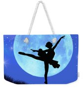 Blue Moon Ballerina Weekender Tote Bag