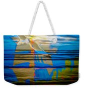 Blue Moonlight With Seagull And Sails Weekender Tote Bag