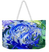 Blue Mophead Hydrangea Abstract Weekender Tote Bag