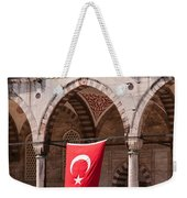 Blue Mosque Courtyard Portico Weekender Tote Bag