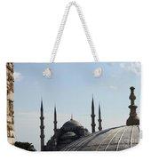 Blue Mosque Dome Behind Hagia Sophia Dome Weekender Tote Bag