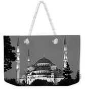 Blue Mosque In Black And White Weekender Tote Bag