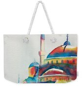 Blue Mosque Sun Kissed Domes Weekender Tote Bag