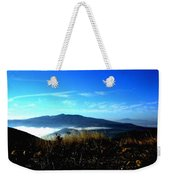Blue Mountain Landscape Umbria Italy Weekender Tote Bag