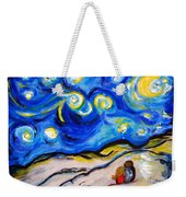 Blue Night Weekender Tote Bag