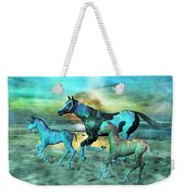 Blue Ocean Horses Weekender Tote Bag