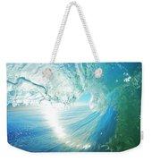 Blue Ocean Wave Weekender Tote Bag