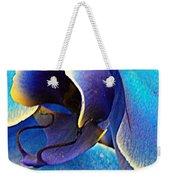 Blue Orchid Macro Weekender Tote Bag