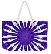 Blue Orchid Sunburst Kaleidoscope Weekender Tote Bag