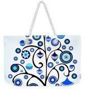 Blue Ornaments Weekender Tote Bag