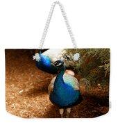Blue Peacocks Weekender Tote Bag