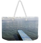 Blue Pier At Lake Ohrid Weekender Tote Bag