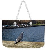 Blue Pigeon Weekender Tote Bag