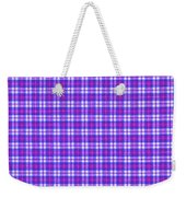 Blue Pink And White Plaid Cloth Background Weekender Tote Bag