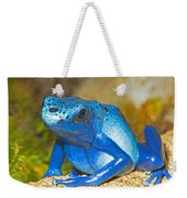Blue Poison Dart Frog Weekender Tote Bag