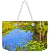 Blue Pond And Water Lilies Weekender Tote Bag