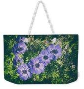 Blue Poppies Blooms Weekender Tote Bag