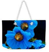 Blue Poppies Weekender Tote Bag