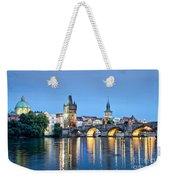 Blue Prague Weekender Tote Bag