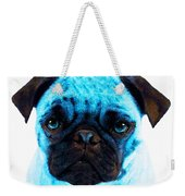 Blue - Pug Pop Art By Sharon Cummings Weekender Tote Bag