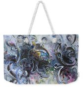 Blue Purple Abstract Movement Art Weekender Tote Bag