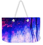 Blue Purple White Metal Weekender Tote Bag