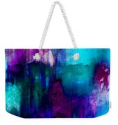 Blue Rain  Abstract Art   Weekender Tote Bag
