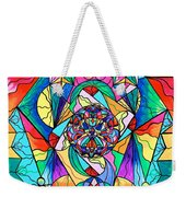 Blue Ray Transcendence Grid Weekender Tote Bag by Teal Eye  Print Store
