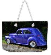 Blue Restored Willy Car Weekender Tote Bag