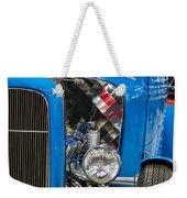 Blue Retro Beauty Weekender Tote Bag
