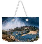 Blue Rice Terrace Weekender Tote Bag