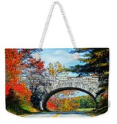 Blue Ridge Autumn Bridge Weekender Tote Bag