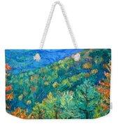 Blue Ridge Autumn Weekender Tote Bag